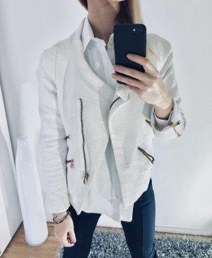 Zara Blazer XS 34 Creme Jacke Gewebt