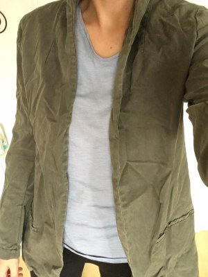 Zara Denim Blazer khaki-green