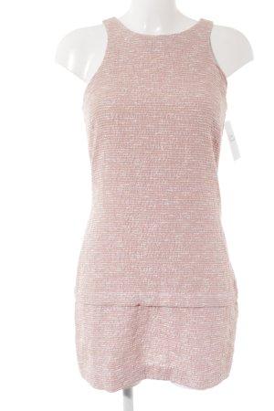 Zara Bleistiftkleid rosa-wollweiß meliert Casual-Look