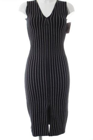 Zara Bleistiftkleid schwarz-weiß Streifenmuster Casual-Look