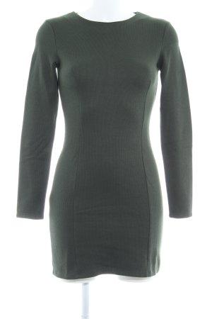 Zara Bleistiftkleid waldgrün Webmuster Business-Look