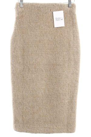 Zara Bleistiftrock beige meliert Street-Fashion-Look