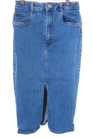 Zara Jupe crayon bleu style décontracté