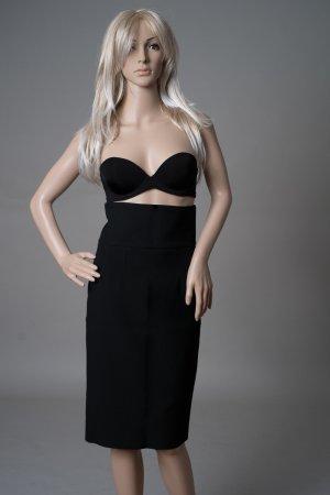 Zara Bleistiftrock High Waist - schwarz in Größe XS