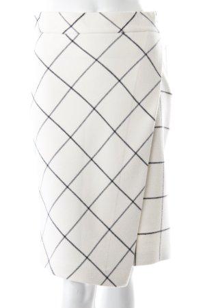 Zara Jupe portefeuille crème-gris anthracite