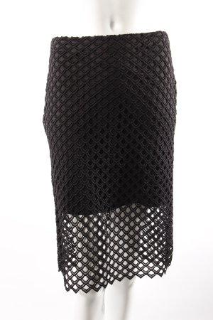Zara Bleistiftrock schwarz mit Lochmuster