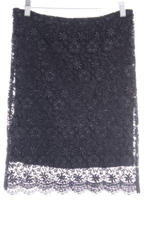 Zara Bleistiftrock schwarz Spitzen-Optik