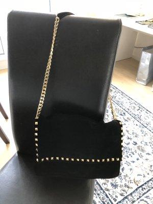 ZARA Blogger Bag aus Wildleder mit goldenen Nieten