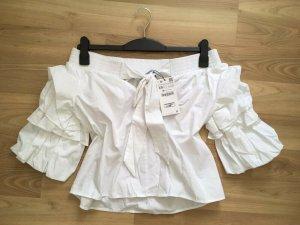 Zara Carmen blouse veelkleurig Katoen