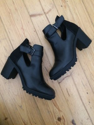 Zara Ankle Boots black-silver-colored