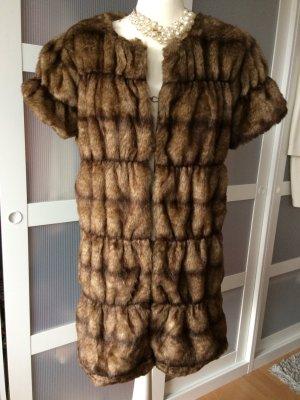 Zara Blogger Fellweste M 38 Fake Fur Kunstfell Pelz Felljacke