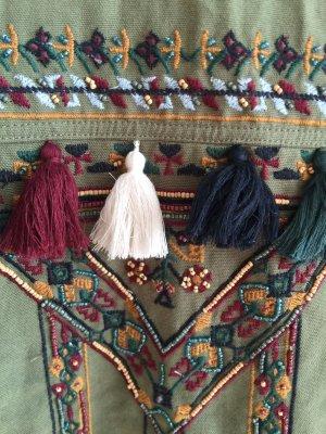 Zara Chaqueta tipo blusa multicolor Algodón