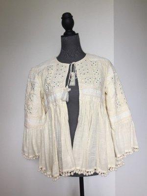 Zara Blouse Jacket oatmeal-natural white