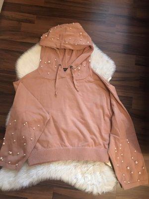 Zara Knit Capuchon sweater nude-rosé
