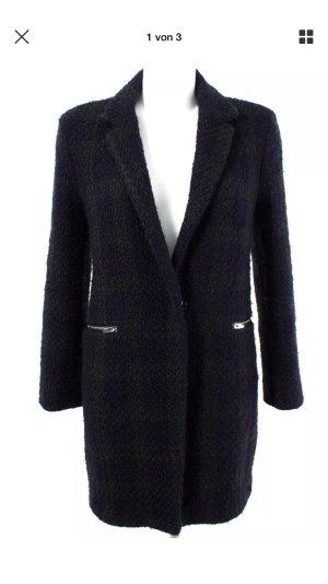 Zara Blogger Karo Woll Winter Mantel Jacke 38 M