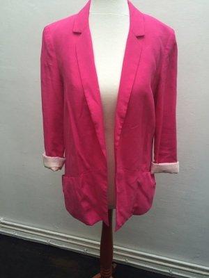 Zara Blogger Long Blazer Boyfriend pink XS 32 34