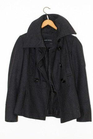 Zara Blogger Mantel Herbst Basic Wollmantel Kurzmantel Jacke dunkelgrau Trenchcoat