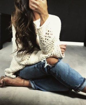 Zara Cable Sweater natural white