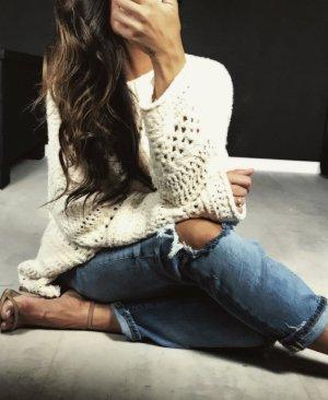 Zara Maglione lungo crema Cotone