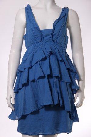 Zara Blogger Rüschen-Kleid königsblau