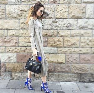 Zara Blogger Schuh Royal Blau Gr.37