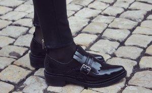 Zara Blogger Schuhe Loafer Slipper Plateau Brogues Blücher Budapester Fransen