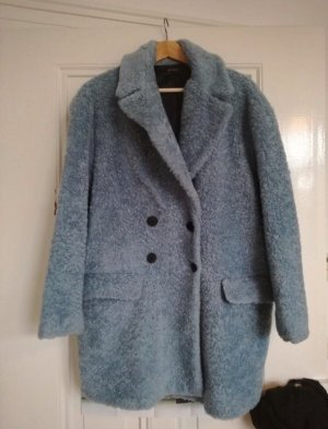 Zara Cappotto in eco pelliccia blu fiordaliso