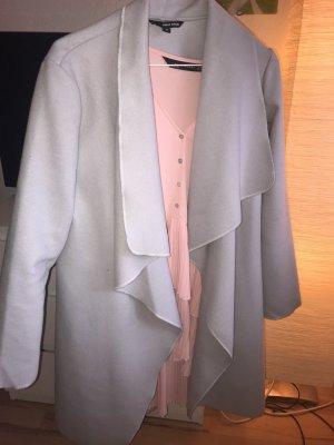 Zara Blogger Wasserfallmantel grau Mantel S