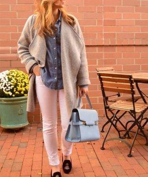 Zara blogger woll mantel cardigan oversized blazer jacke super warm xs s