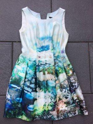 Zara Bloggerkleid S 36 Fisch-Muster Meerjungfrau Blumen Kleid