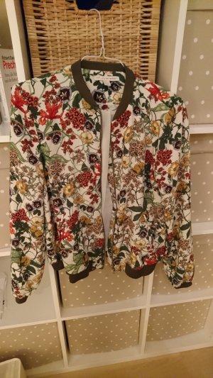 Zara Blouson/ Bomberjacke Blumen Größe 34