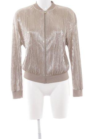 Zara Blouson goldfarben-graubraun Elegant