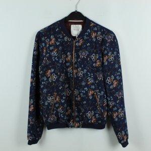Zara Trafaluc Blouson dark blue-russet polyester