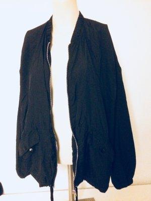 Zara Chaqueta negro tejido mezclado