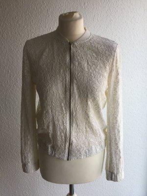 Zara Blouson blanc polyester