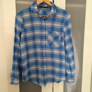 Zara blue checked shirt
