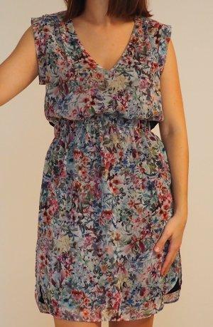 Zara / Blümchenkleid mit Rückeneinsatz