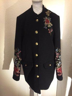 Zara Blumen Mantel mit Stickerei