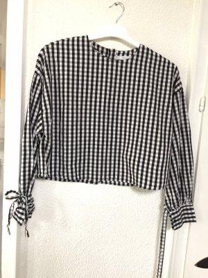 Zara Trafaluc Checked Blouse black-white