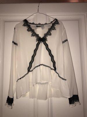 Zara Camicetta a blusa bianco-nero