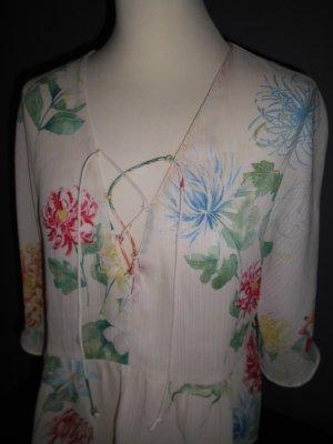 Zara, Bluse, 3/4 Arm, Floraler Druck, Gr.M