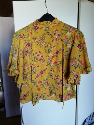 Zara Tie-neck Blouse yellow