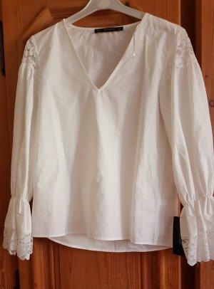 Zara Blusa in merletto bianco