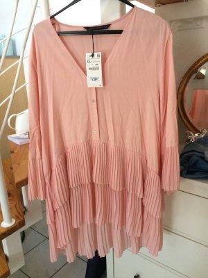 Zara Camicetta a maniche lunghe rosa-rosa chiaro