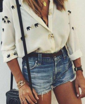Zara Long Sleeve Blouse white