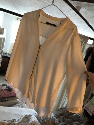 Zara Camicetta a maniche lunghe bianco-oro