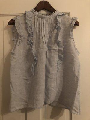 Zara Short Sleeved Blouse azure-pale blue