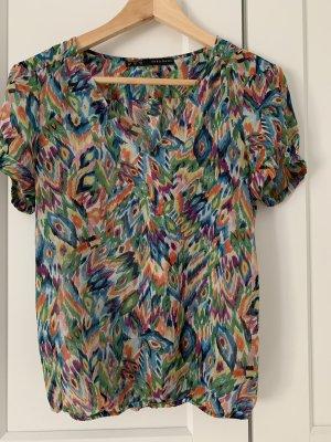 Zara Blusa transparente multicolor