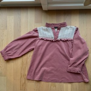 Zara Blouse à col montant or rose