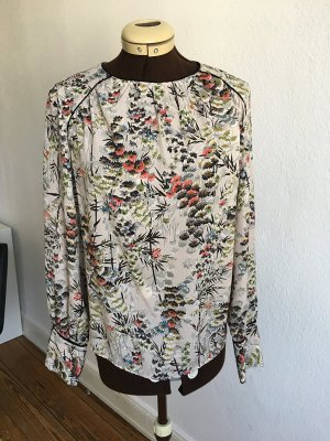 Zara Basic Blouse à manches longues multicolore polyester